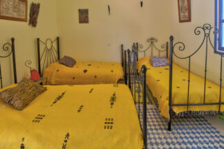Three single beds