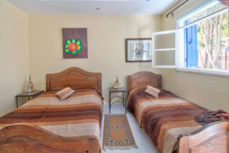Single bed and double bed